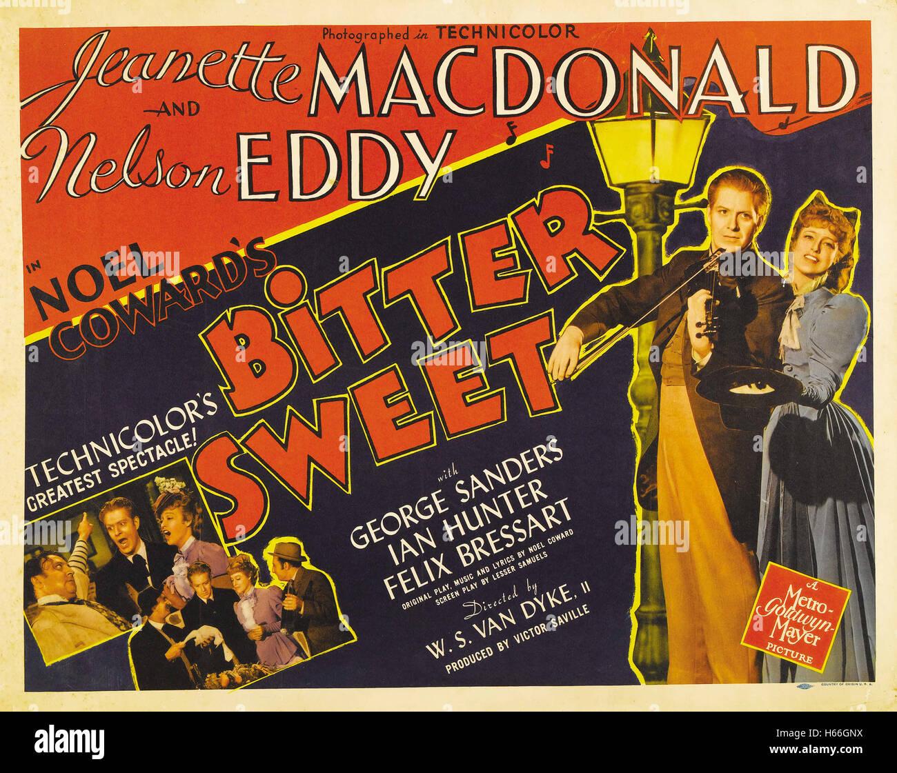 Bitter Sweet (1940) - Movie Poster - - Stock Image