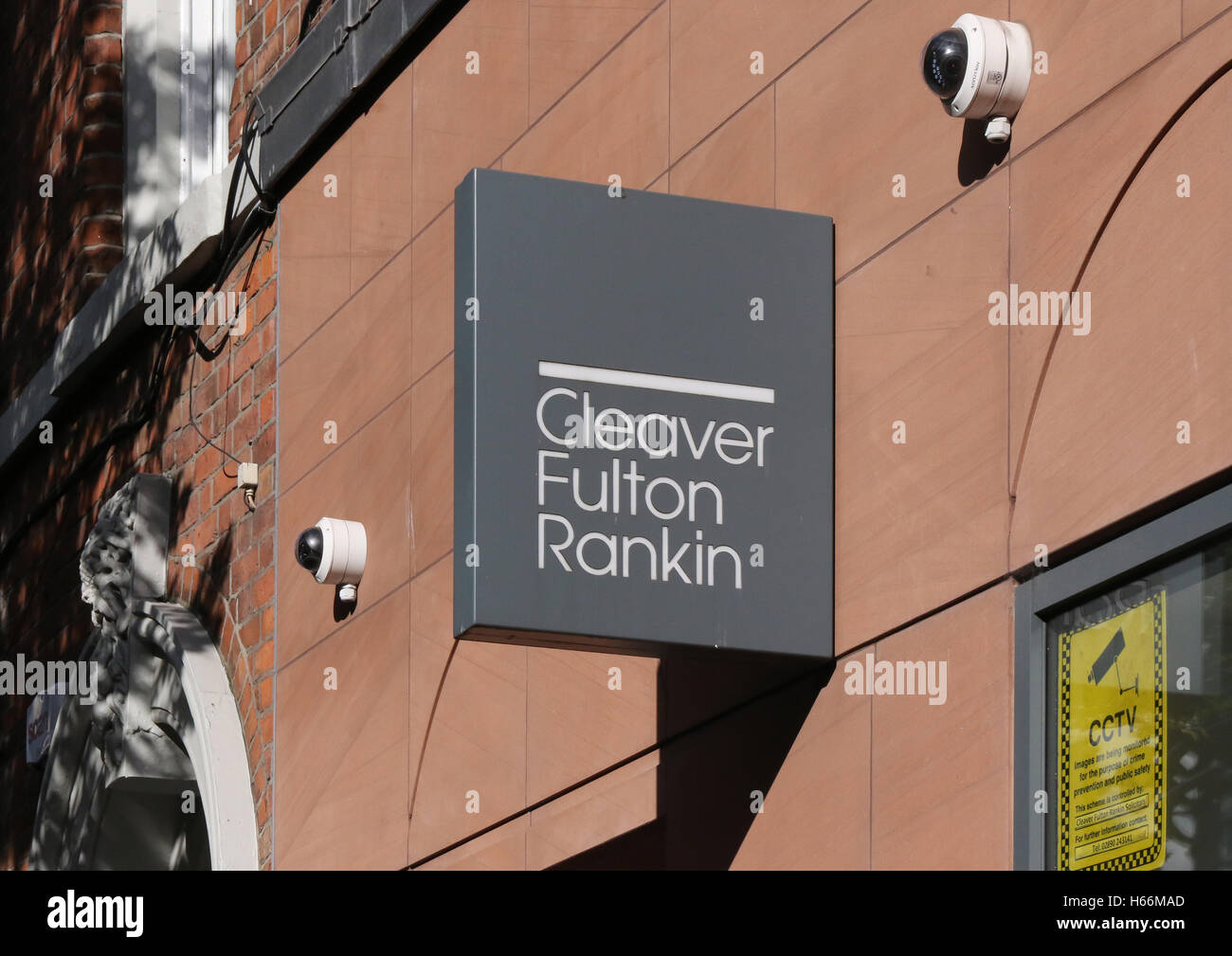Sign and offices of Cleaver Fulton and Rankin in Belfast - Stock Image