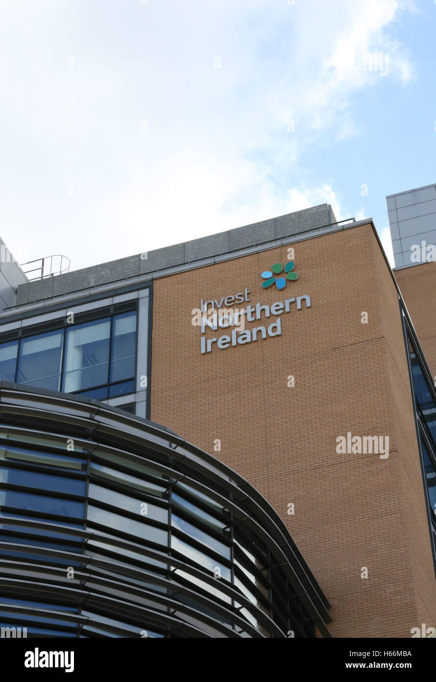 The Invest Northern Ireland (Invest NI) building in Bedford Street, Belfast, Northern Ireland. The building is also - Stock Image