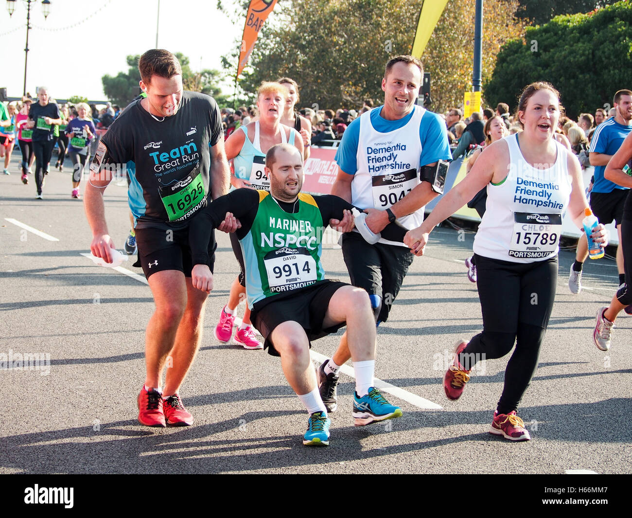 Marathon Finish Line Runner Exhausted Stock Photos Tired