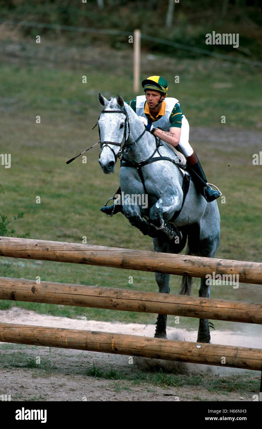 CCI Saumur 1994, David Green (AUS) riding Duncan II - Stock Image