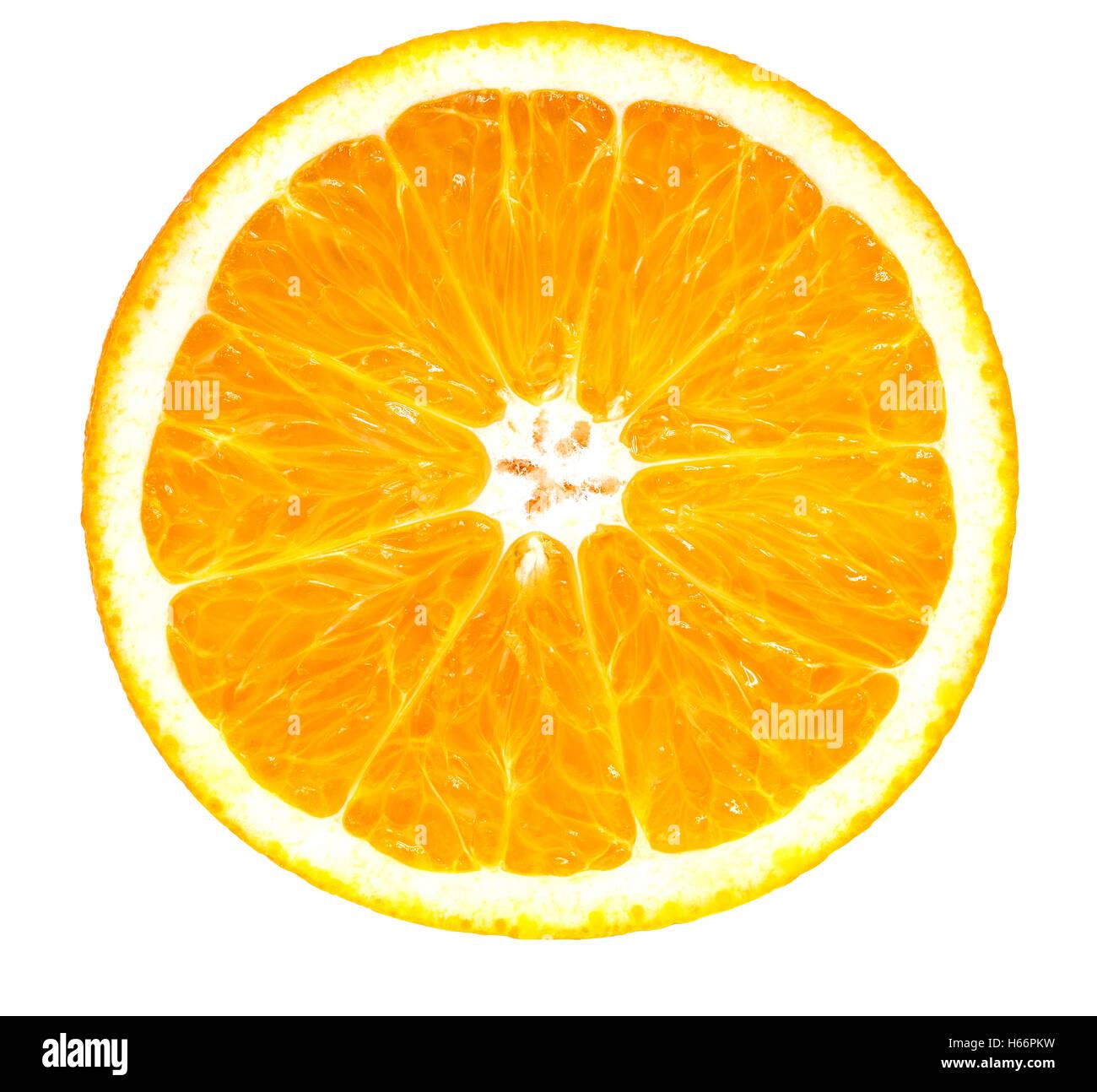 oranges isolated on the white background - Stock Image