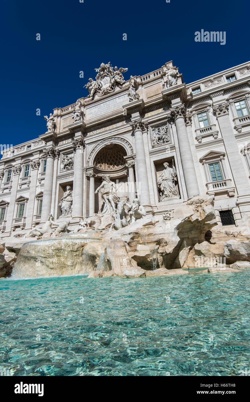 Trevi Fountain, Rome, Lazio, Italy - Stock Image