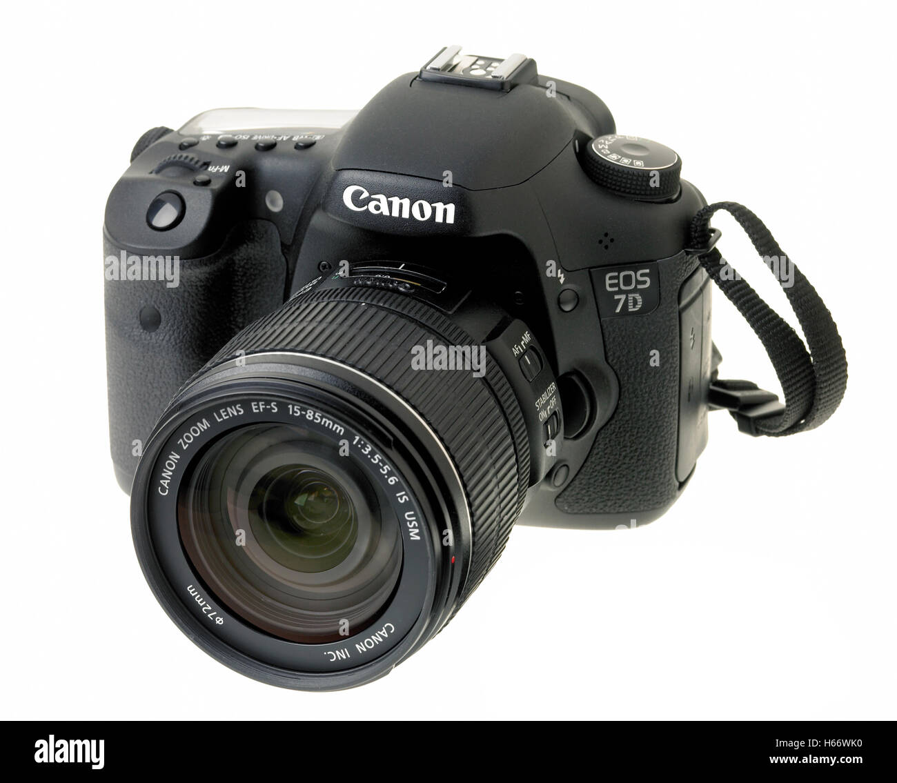 Canon Eos 7d digital SLR camera - Stock Image