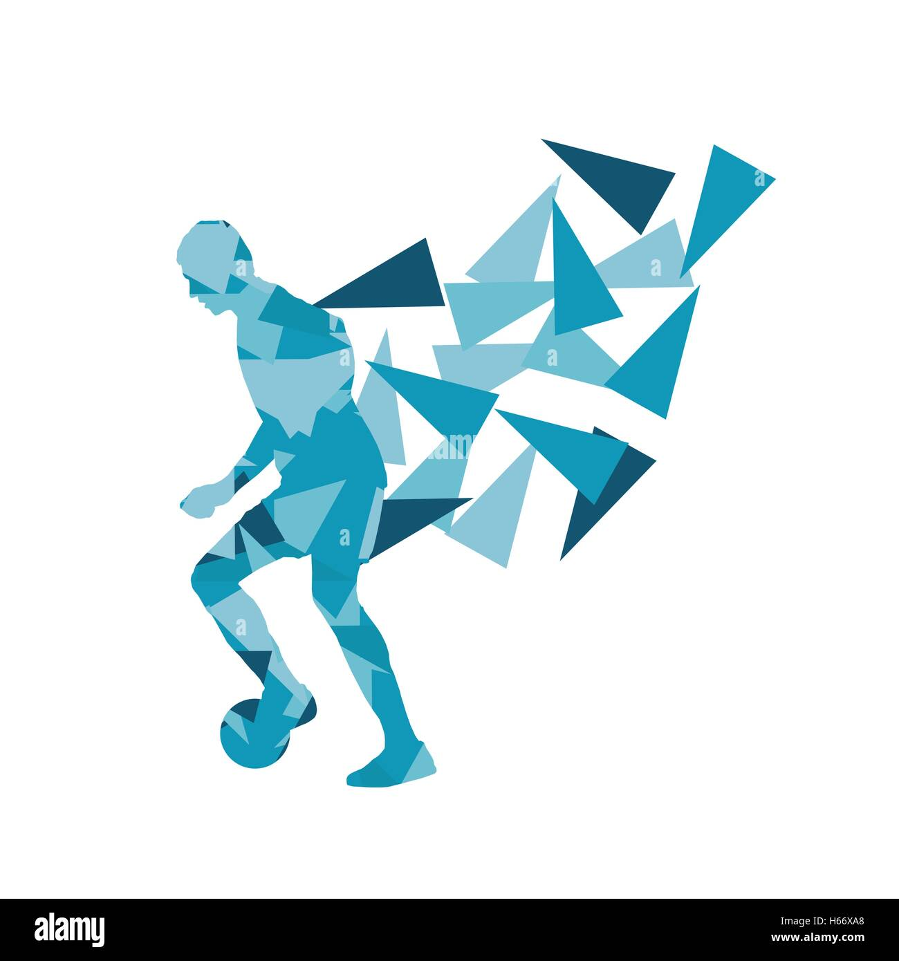 Soccer Football Player Vector Background Abstract Illustration Stock