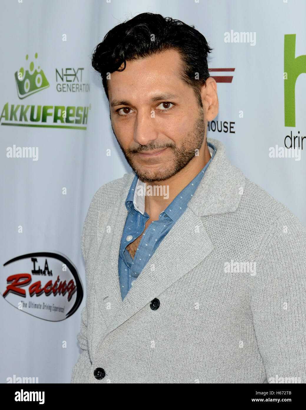 Actor Cas Anvar arrives at the Peace Fund's 2nd Annual Celebrity Poker Tournament at the Reserve Playa Vista, - Stock Image