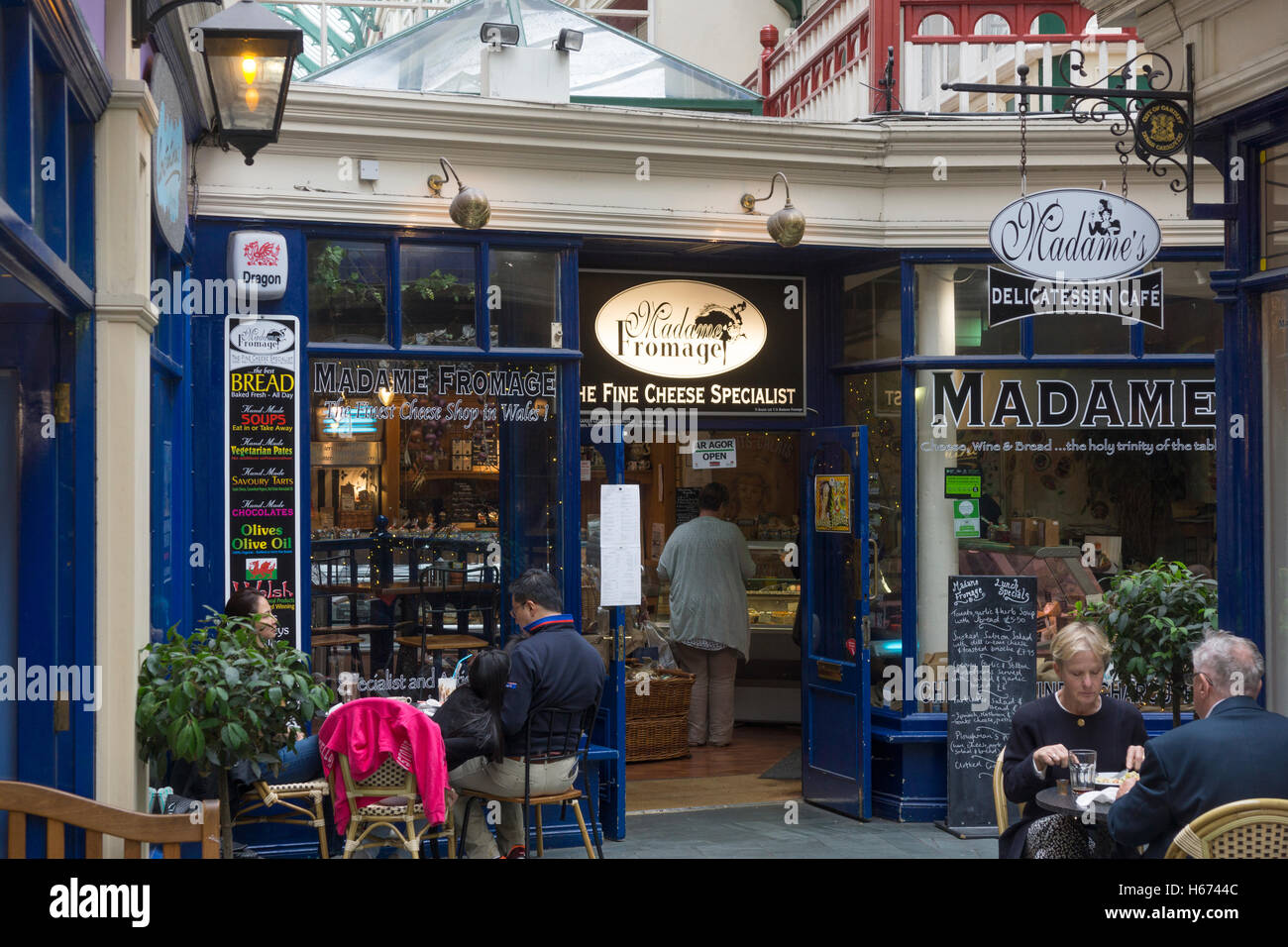 Madame Fromage, Castle Arcade, Cardiff - Stock Image