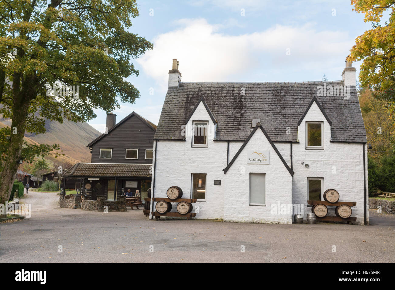 Clachaig Inn, Glen Coe, Scotland, UK - Stock Image