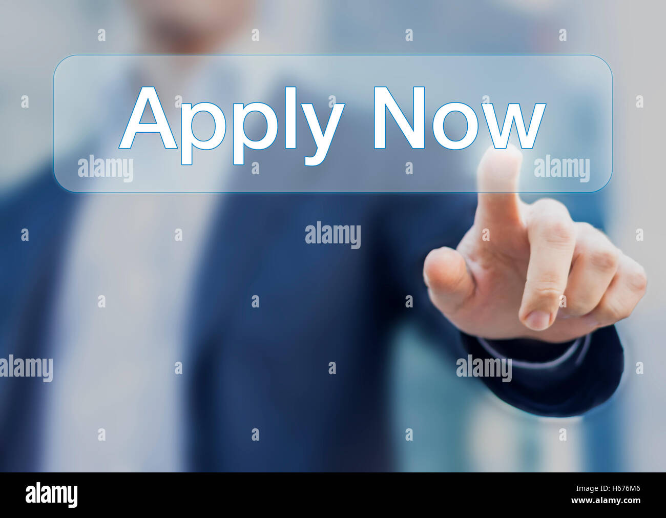 Button Apply Now Concept About Job Application With Person In Stock