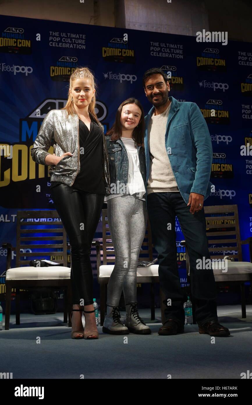 Ajay Devgan ,Erika Kaaras,. Abigail Eames, Stock Photo