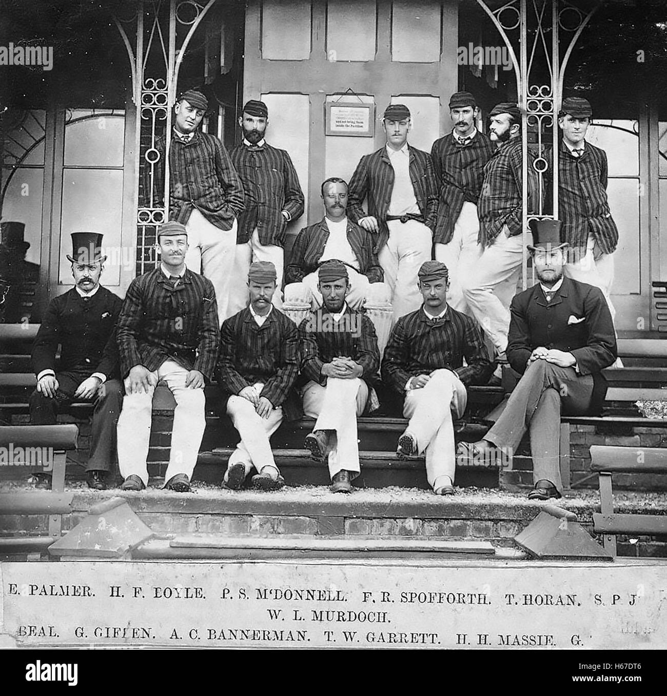AUSTRALIAN CRICKET TOUR OF ENGLAND TEAM 1882. Photo New South Wales State Library - Stock Image