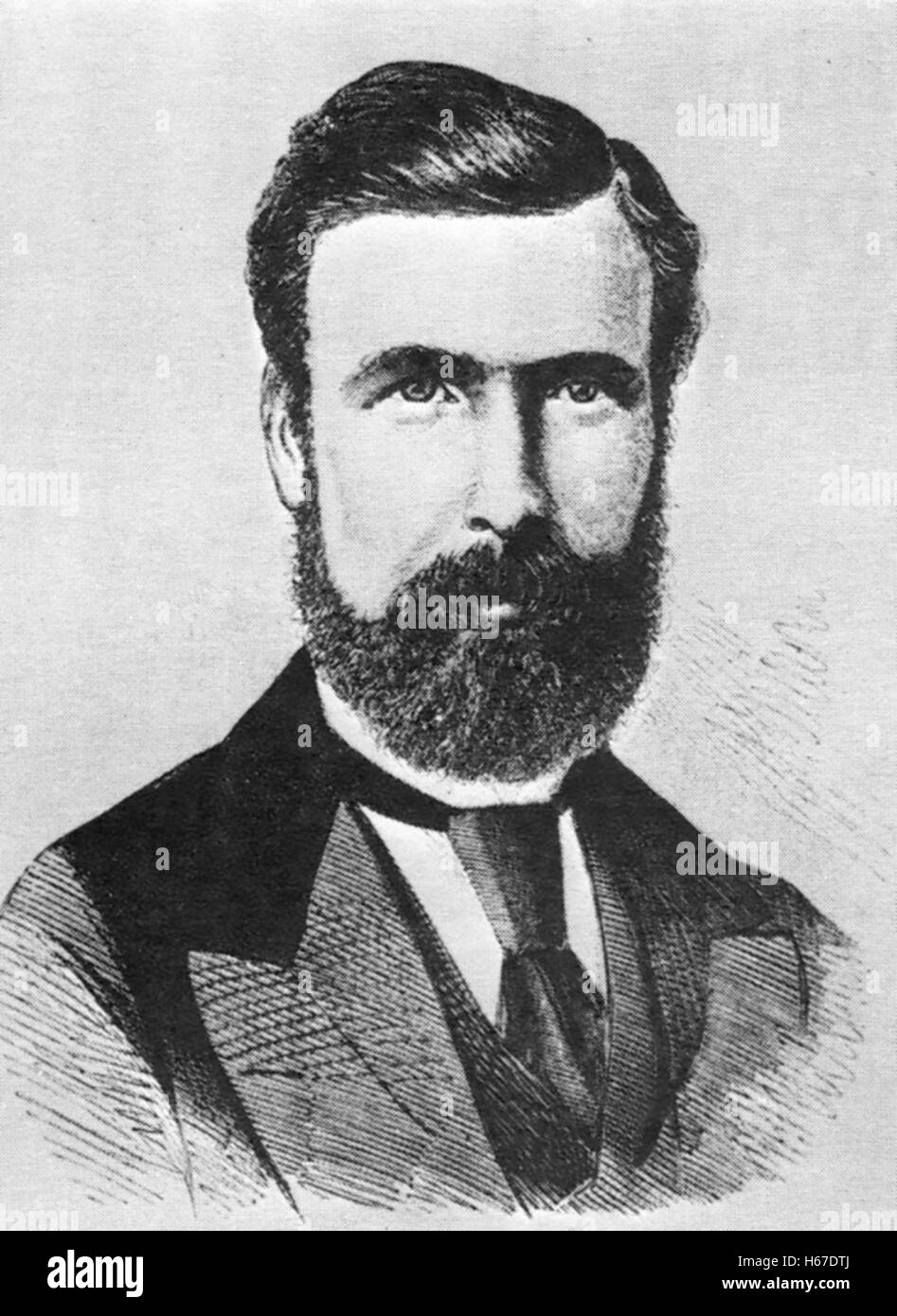 GEORGE POTTER (1832-1893) first President of the British Trades Union Congress - Stock Image