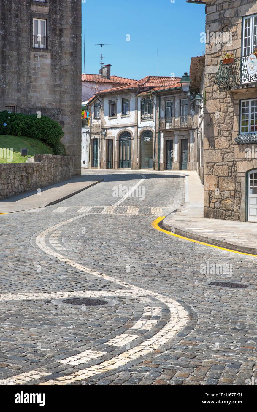 Street scene in Ponte de Lima in northern Portugal - Stock Image