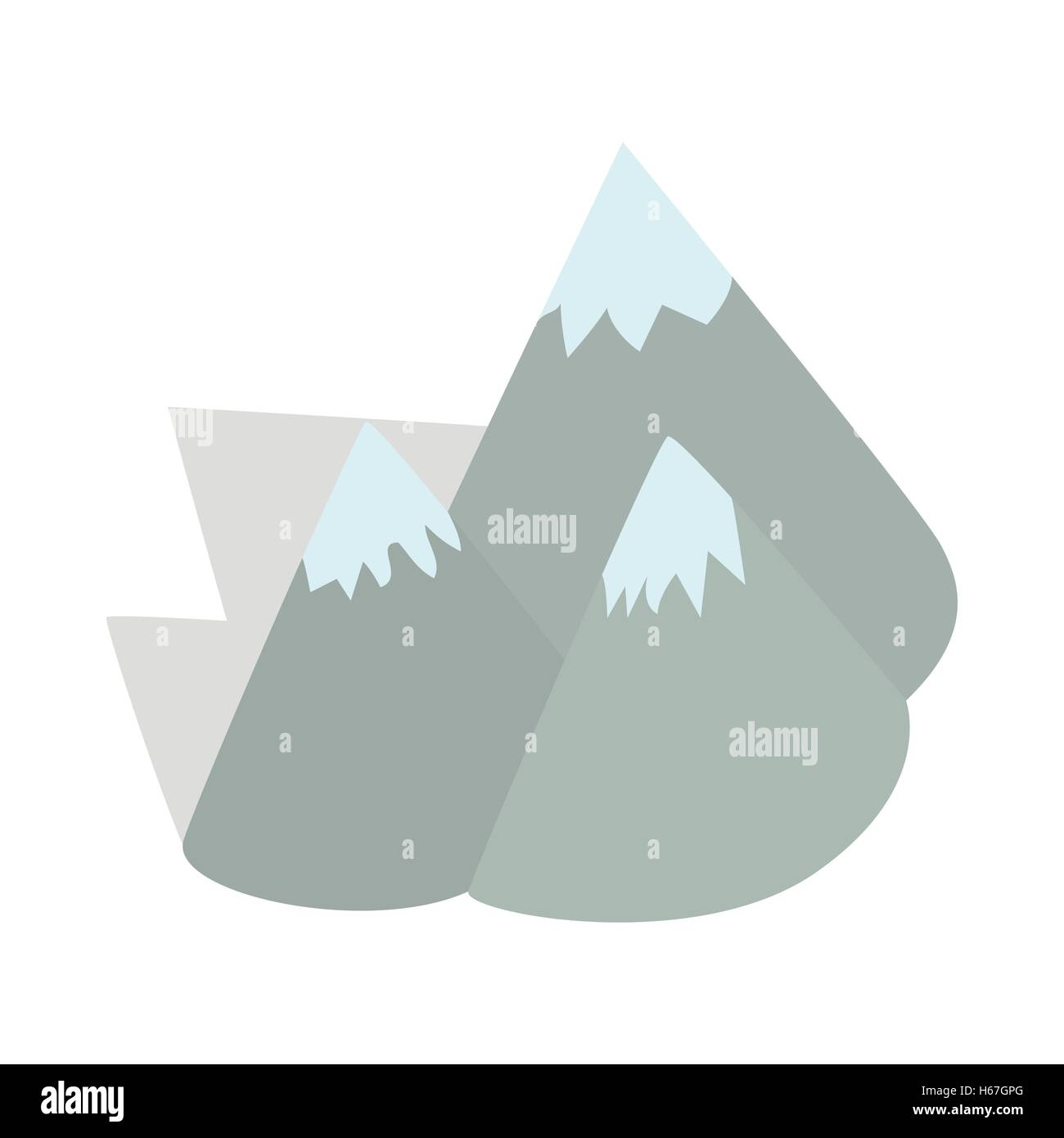 Moutains, Sweden icon, isometric 3d style - Stock Image