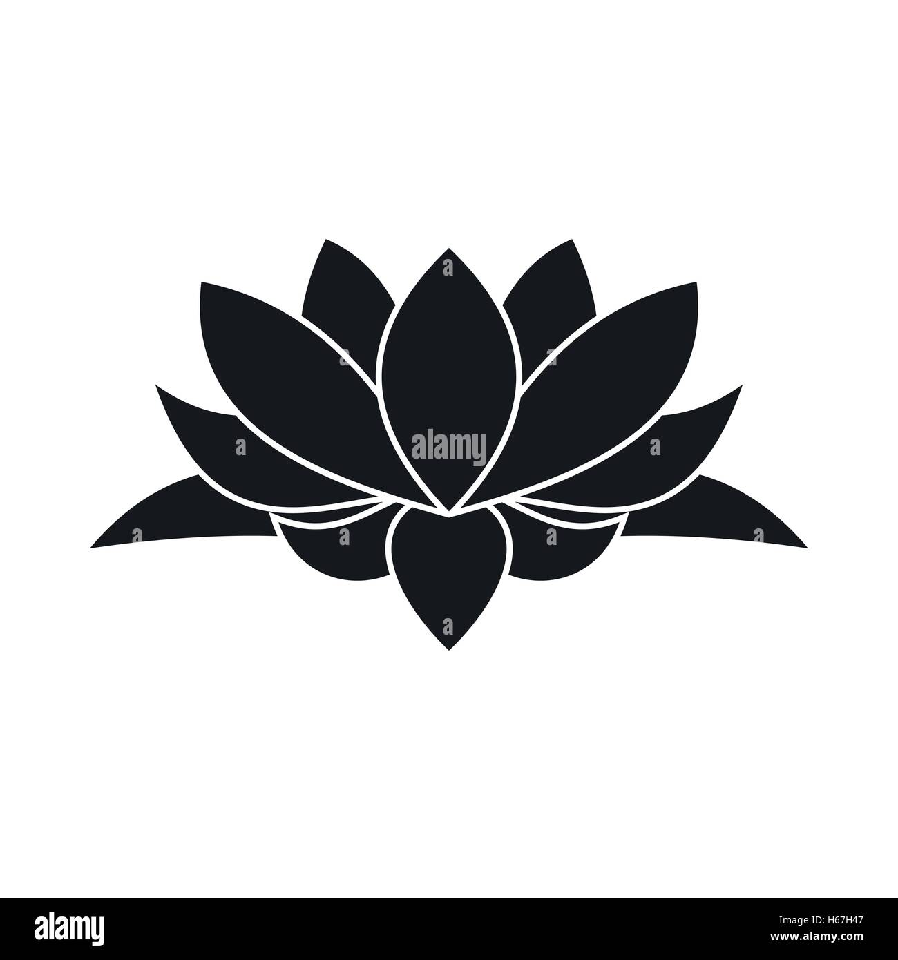 Lotus Flower Icon Simple Style Stock Vector Art Illustration