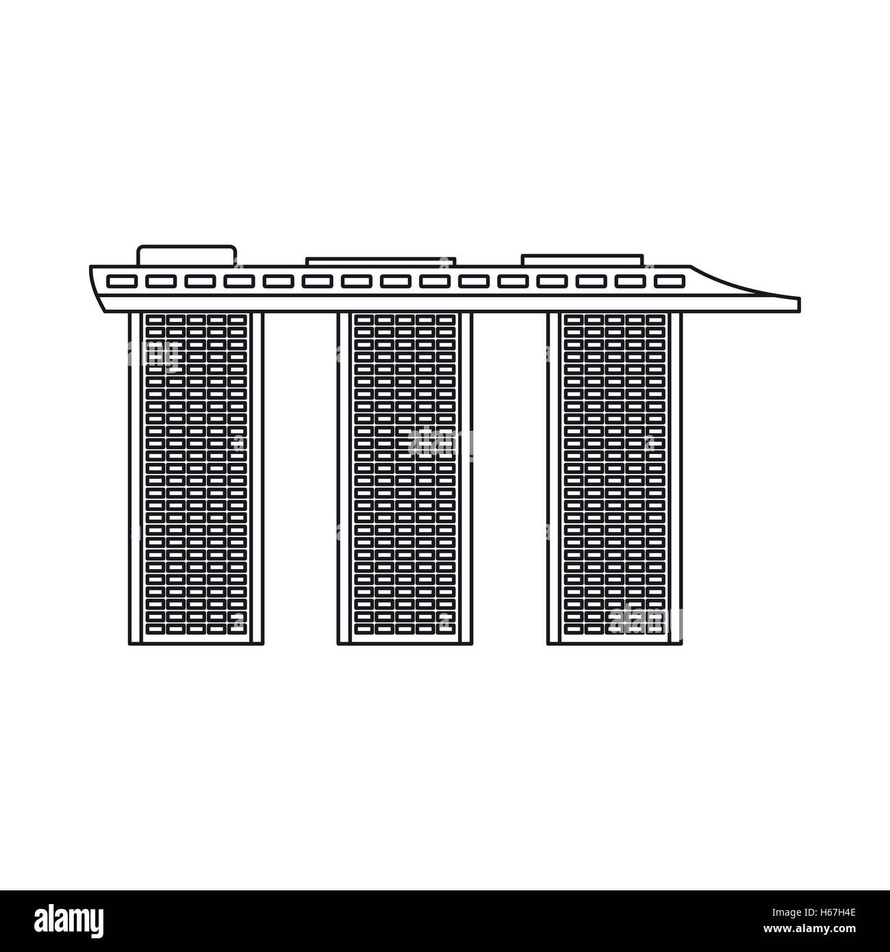 Marina Bay Sands Hotel, Singapore icon - Stock Image