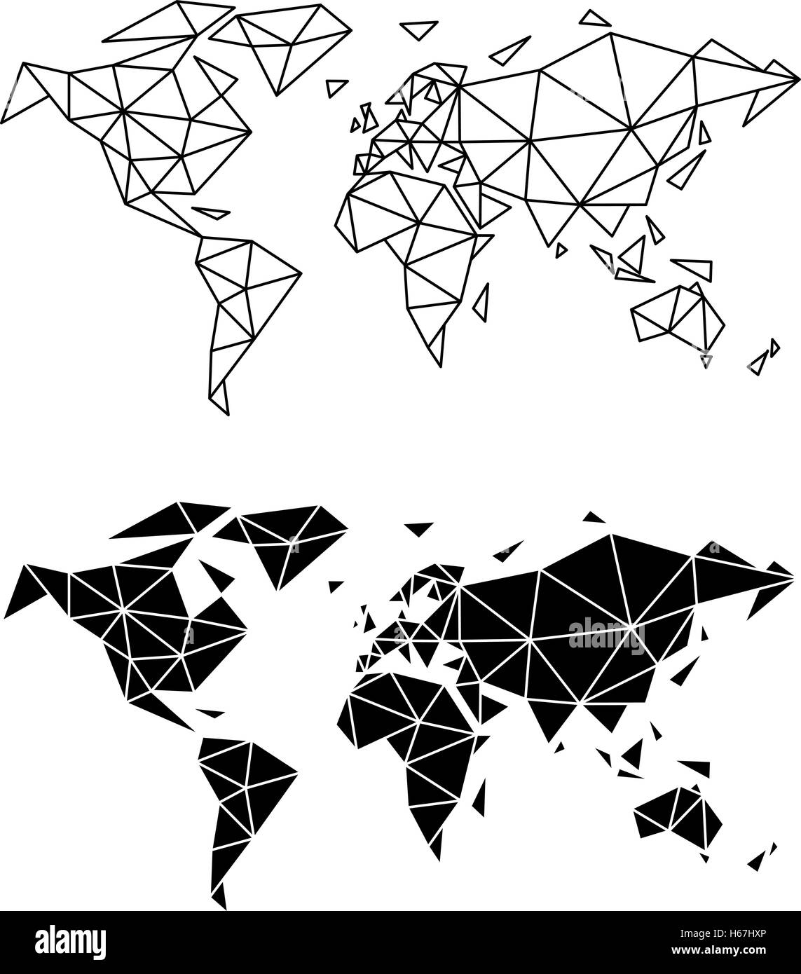 Abstract geometric world map polygon earth vector illustration abstract geometric world map polygon earth vector illustration gumiabroncs Image collections
