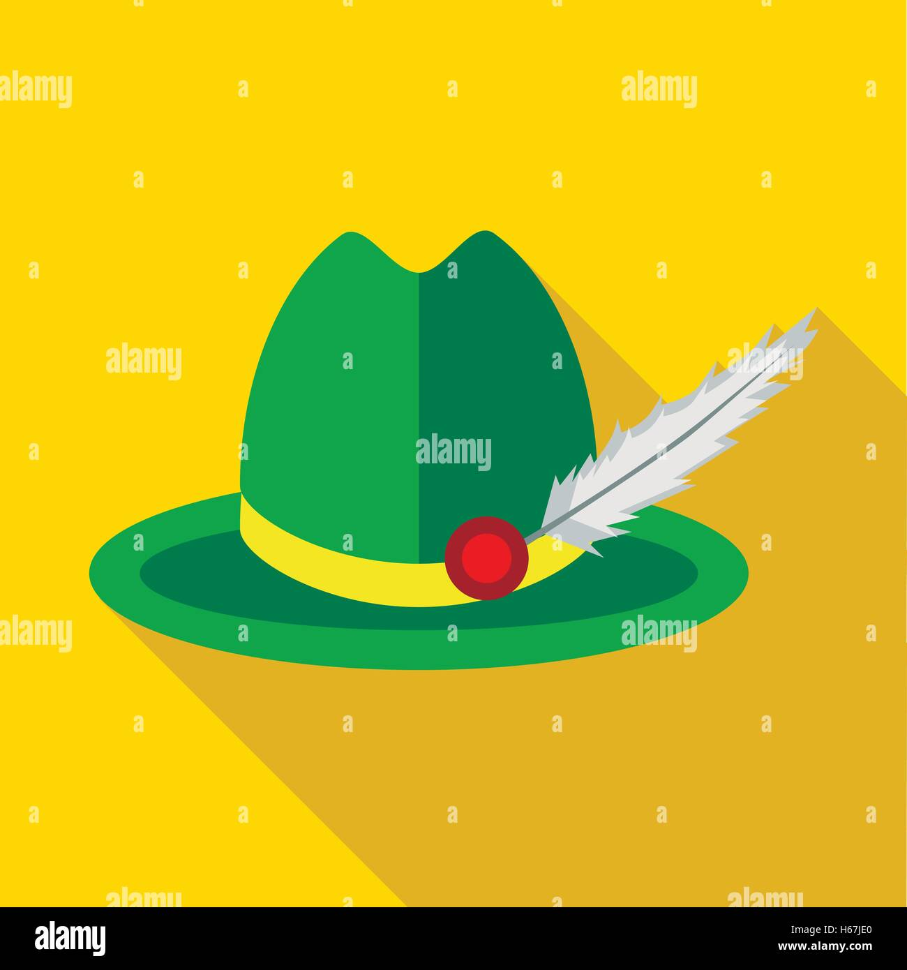 4421637ed21 Green hat with a feather icon