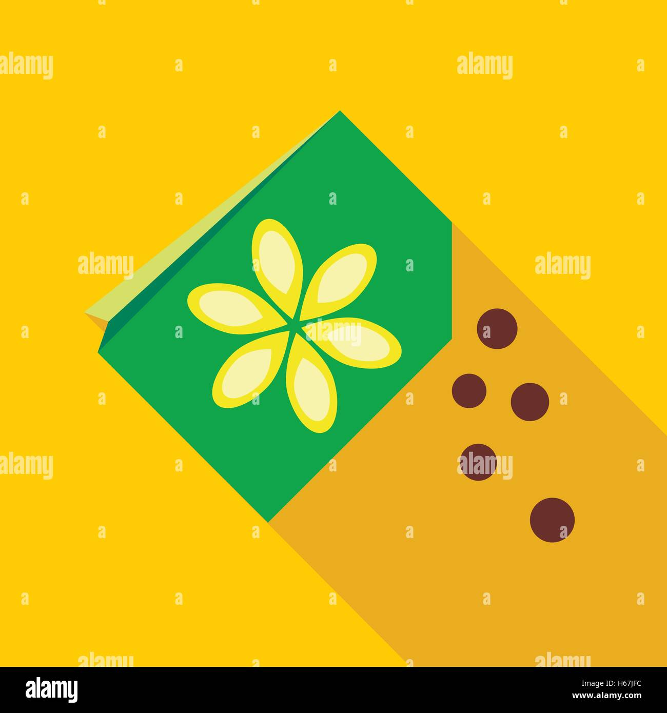 Paper Bag With Flower Seeds Icon Stock Vector Art Illustration