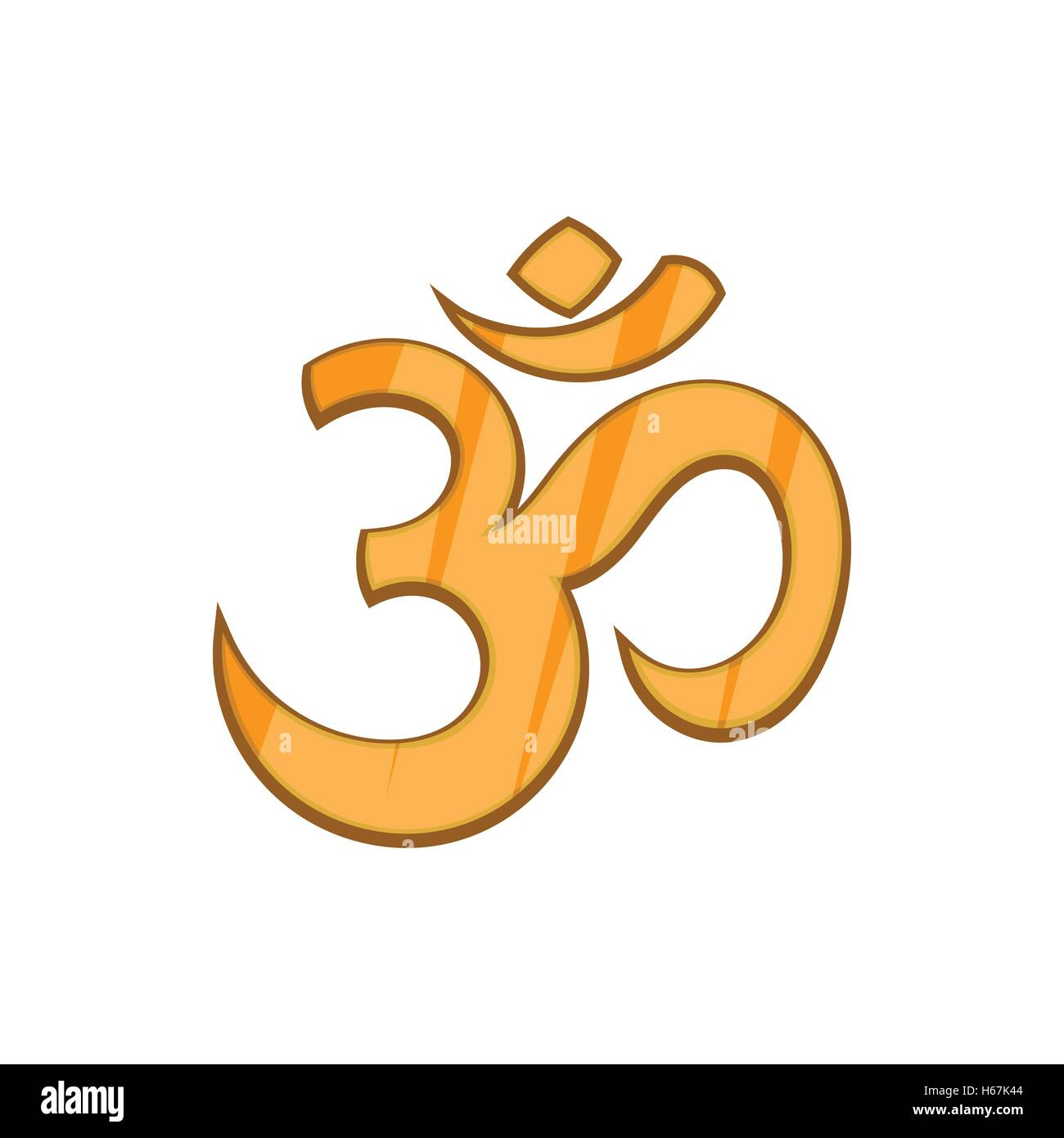Hindu Om Symbol Icon In Cartoon Style Stock Vector Art