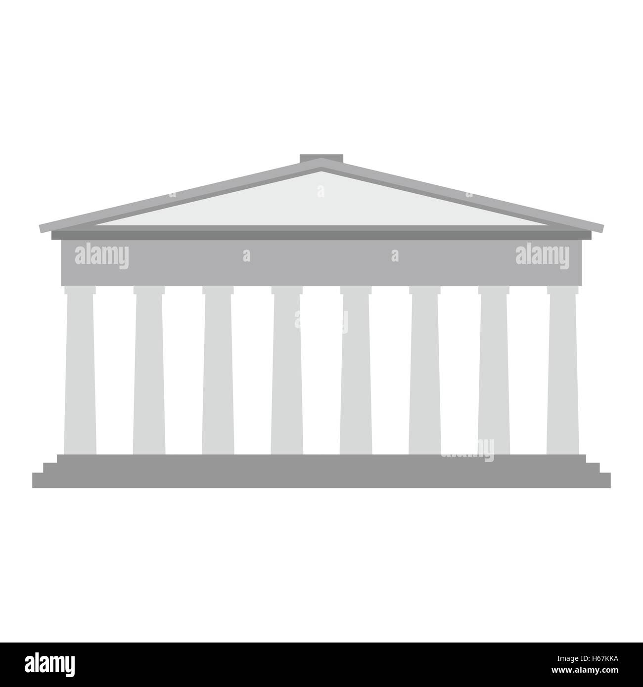 Roman pantheon flat - Stock Vector