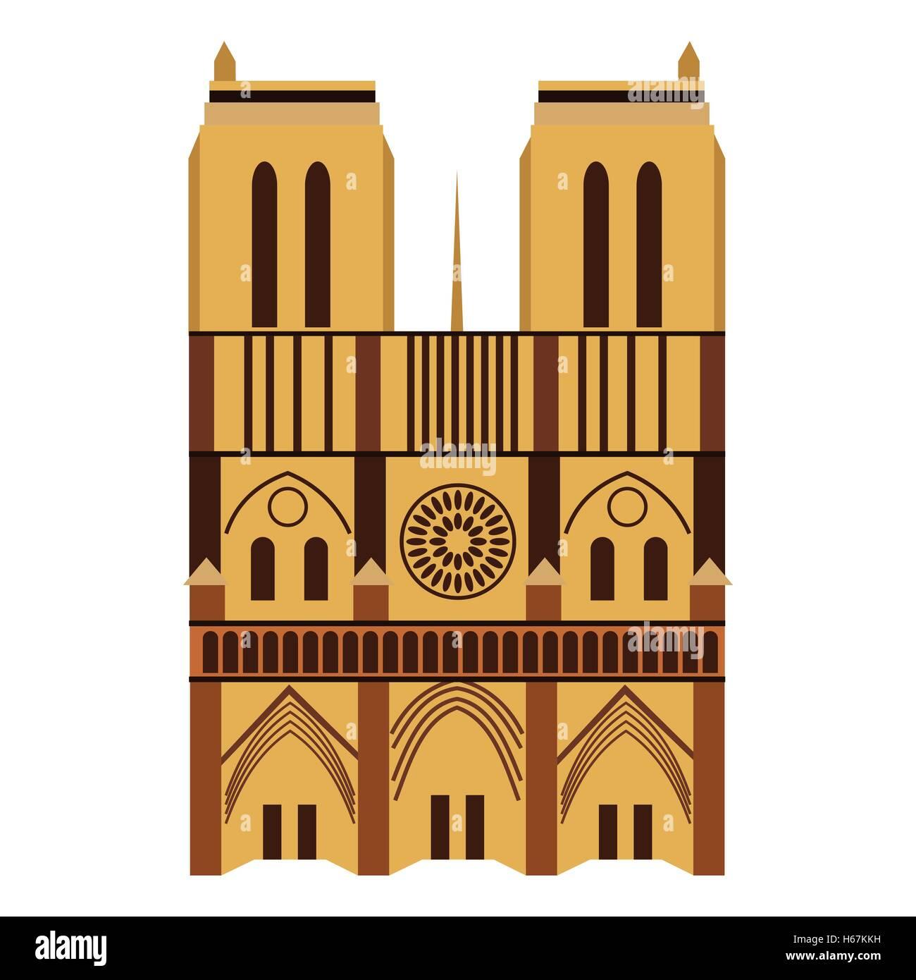 Notre Dame de Paris Cathedral - Stock Image