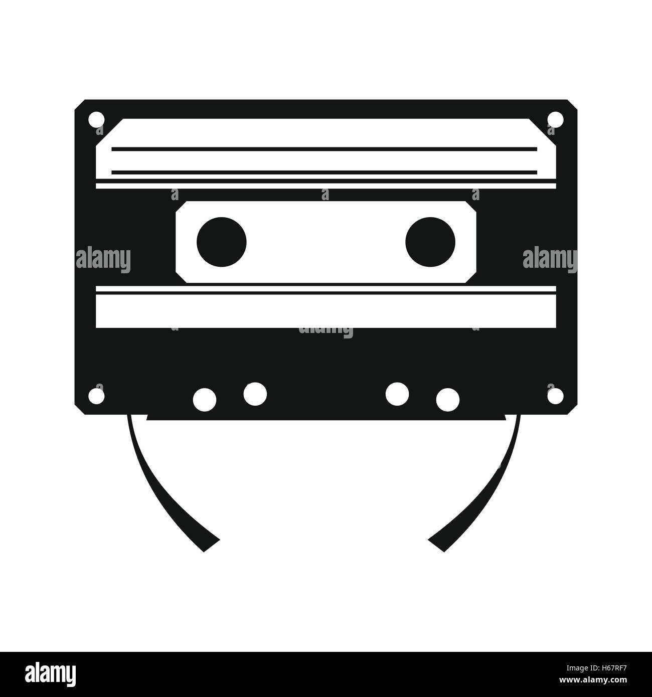 Audio compact cassette simple icon - Stock Image