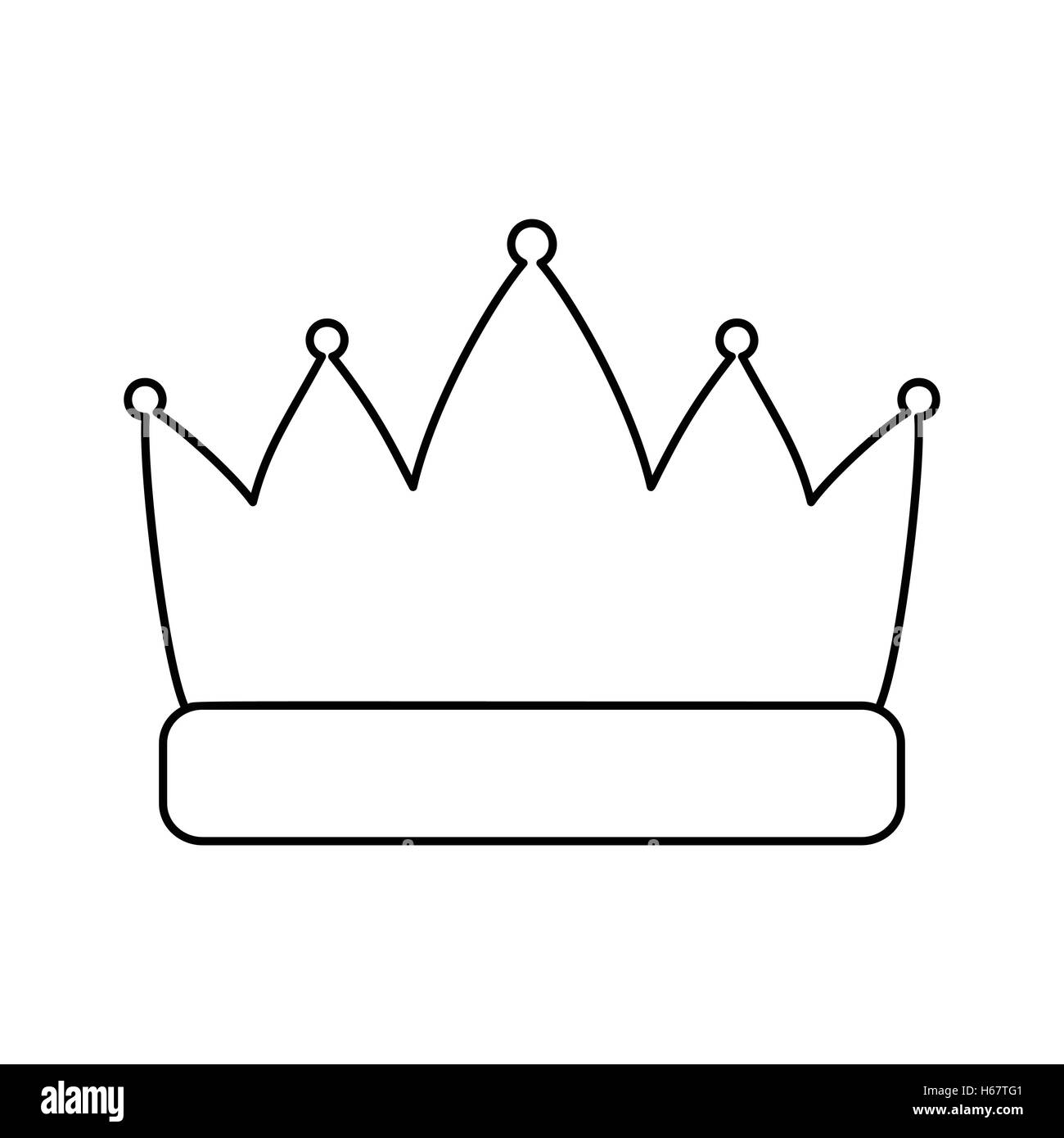 Crown line icon - Stock Vector