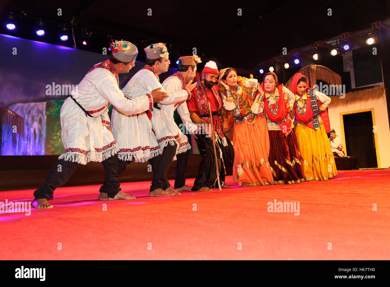 Lambada Dance, Himachal Pradesh, India - Stock Image