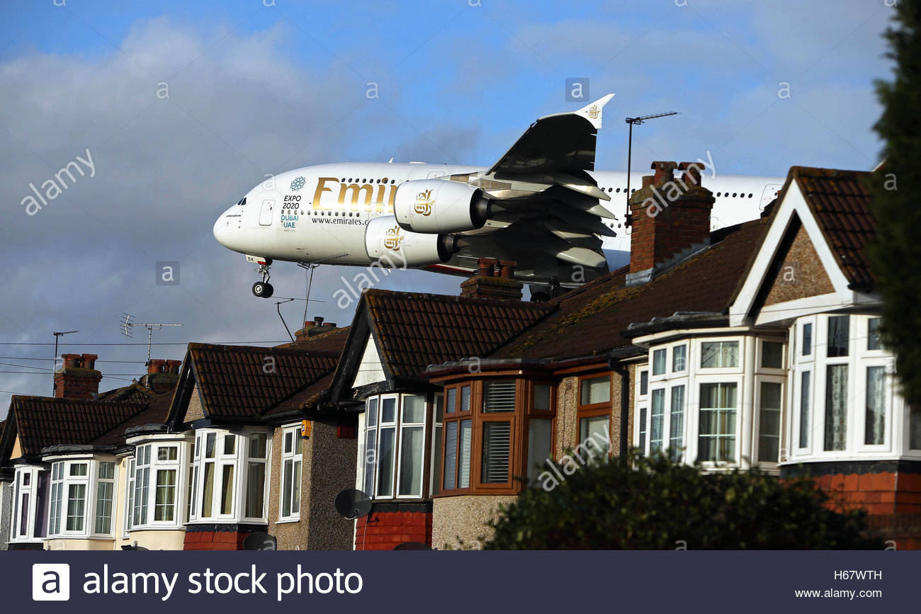 File Photo Dated 04 01 16 Of An Emirates Airbus A380 Plane Landing