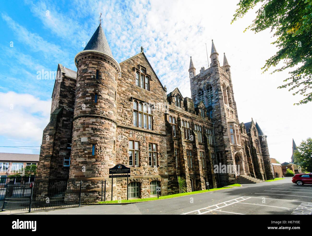 Lanyon Building, Belfast Royal Academy (BRA) grammar school in North Belfast, Northern Ireland. - Stock Image