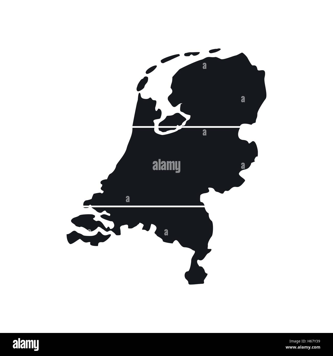 Holland map icon, simple style - Stock Vector