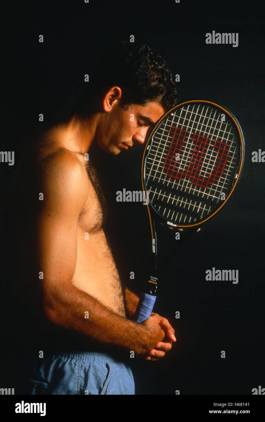 Portrait of Pete Sampras, 1995 - Stock Image