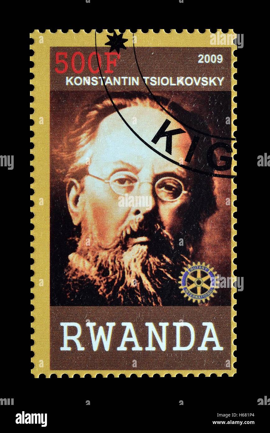 Rwanda stamp 2009 Stock Photo