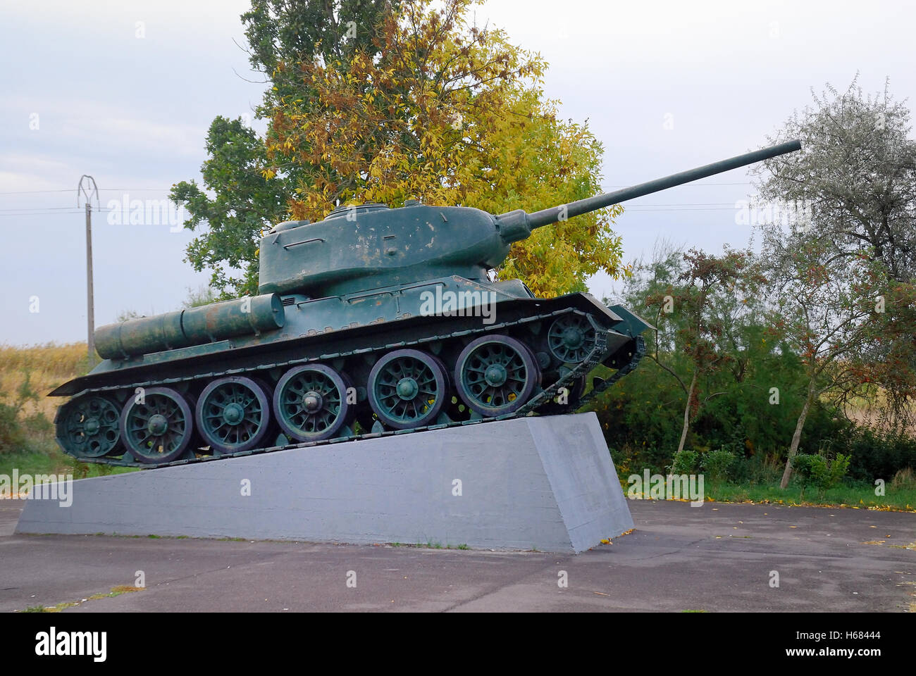 Hortobagy, Hungary.  the tank memorial, this commemorates the six day tank battle in October 1944 which took place - Stock Image