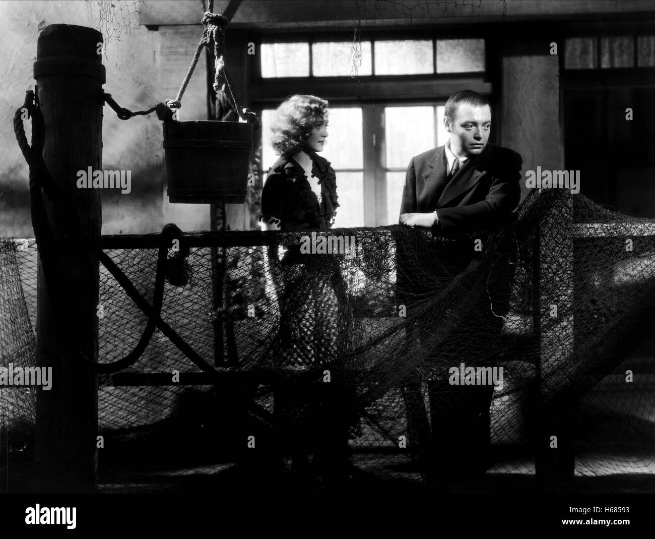 MARIAN MARSH, PETER LORRE, CRIME AND PUNISHMENT, 1935 - Stock Image