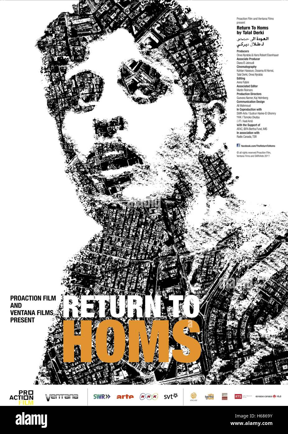 MOVIE POSTER THE RETURN TO HOMS (2013) - Stock Image