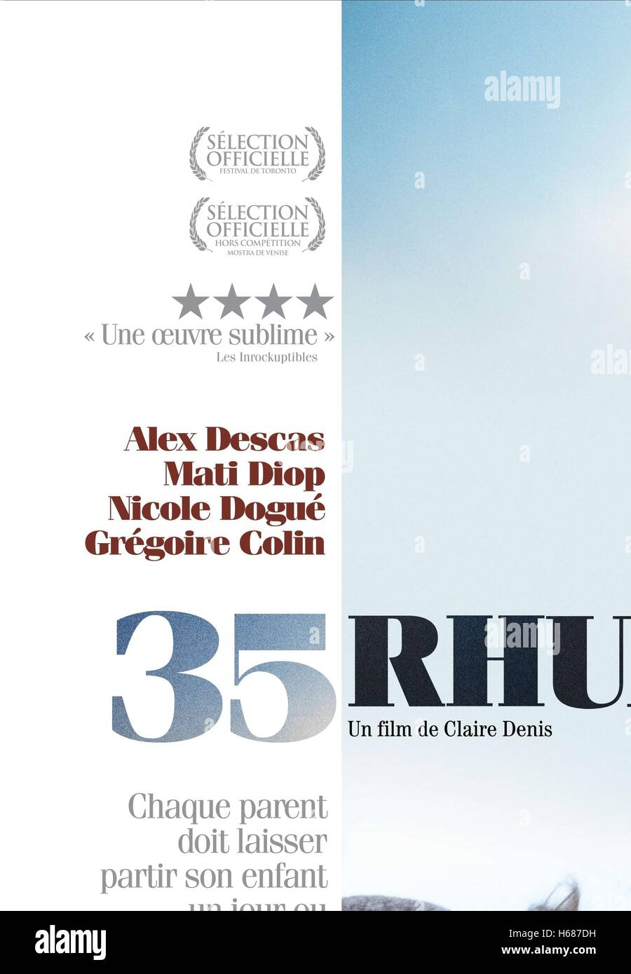 ALEX DESCAS & MATI DIOP POSTER 35 SHOTS OF RUM; 35 RHUMS (2008) - Stock Image