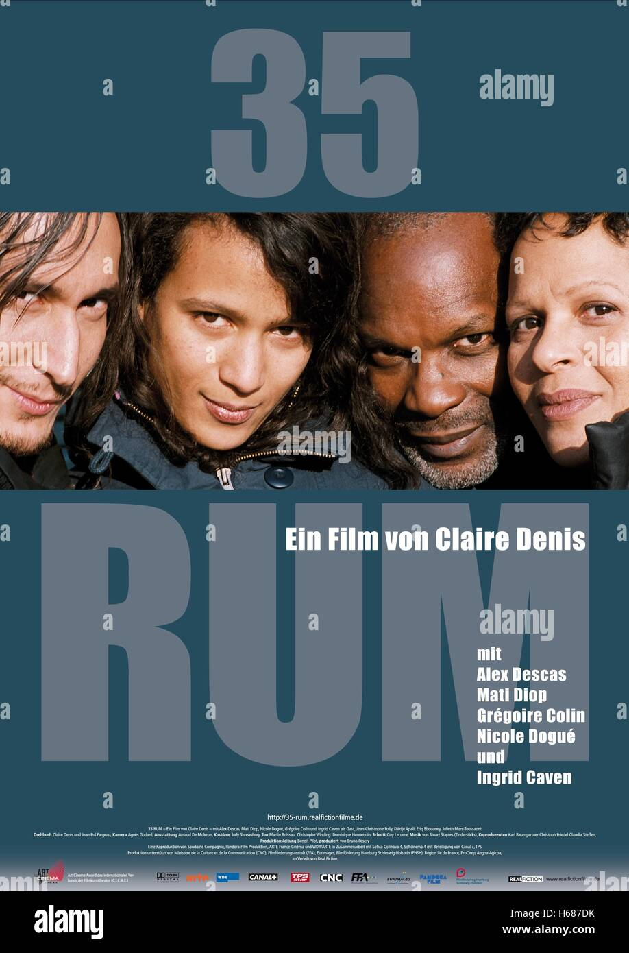 GREGOIRE COLIN MATI DIOP ALEX DESCAS & NICOLE DOGUE POSTER 35 SHOTS OF RUM; 35 RHUMS (2008) - Stock Image