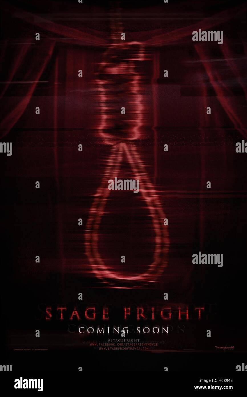 Hangmans Noose Movie Poster Stage Fright 2014 Stock Photo