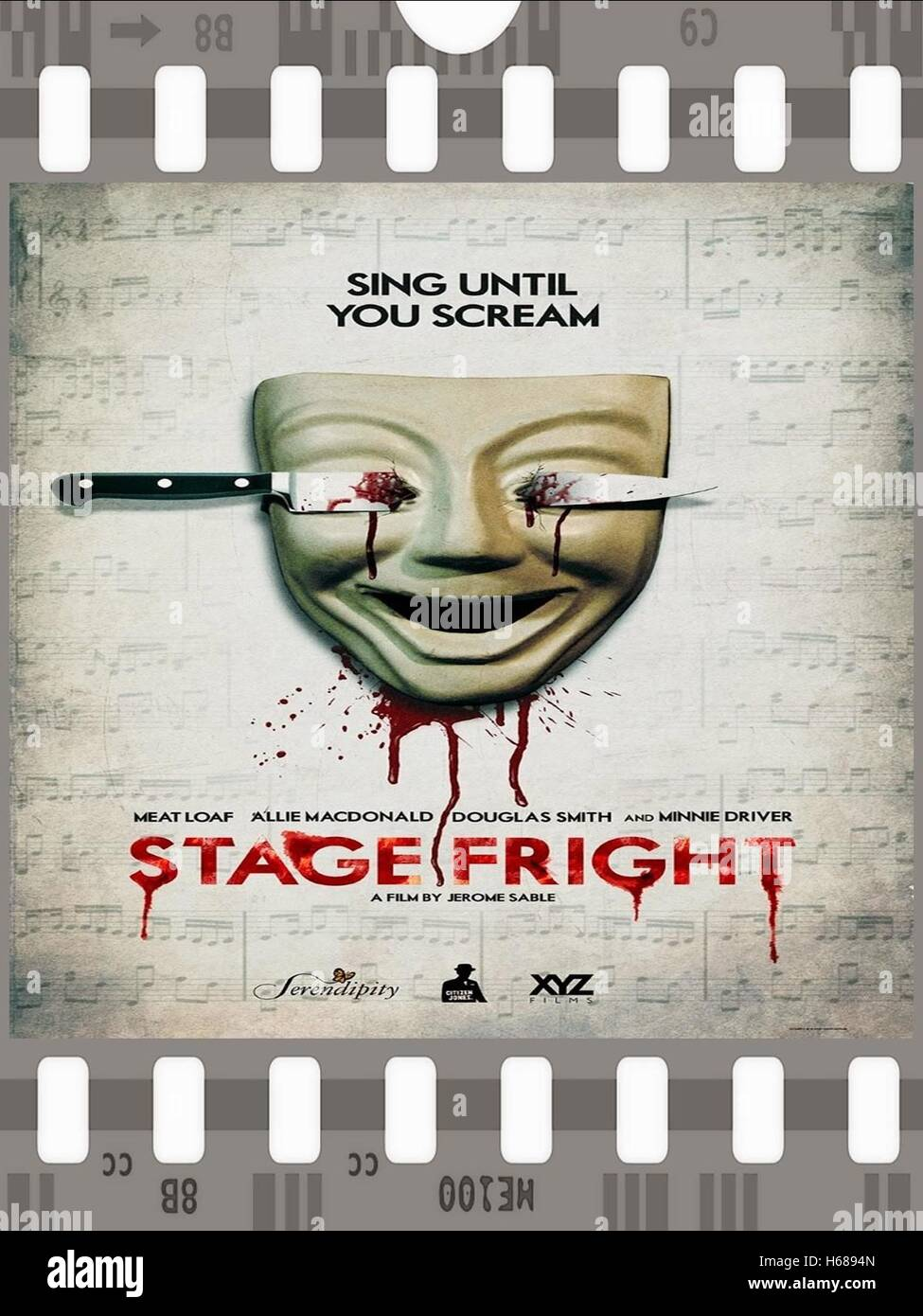 MOVIE POSTER STAGE FRIGHT (2014) - Stock Image