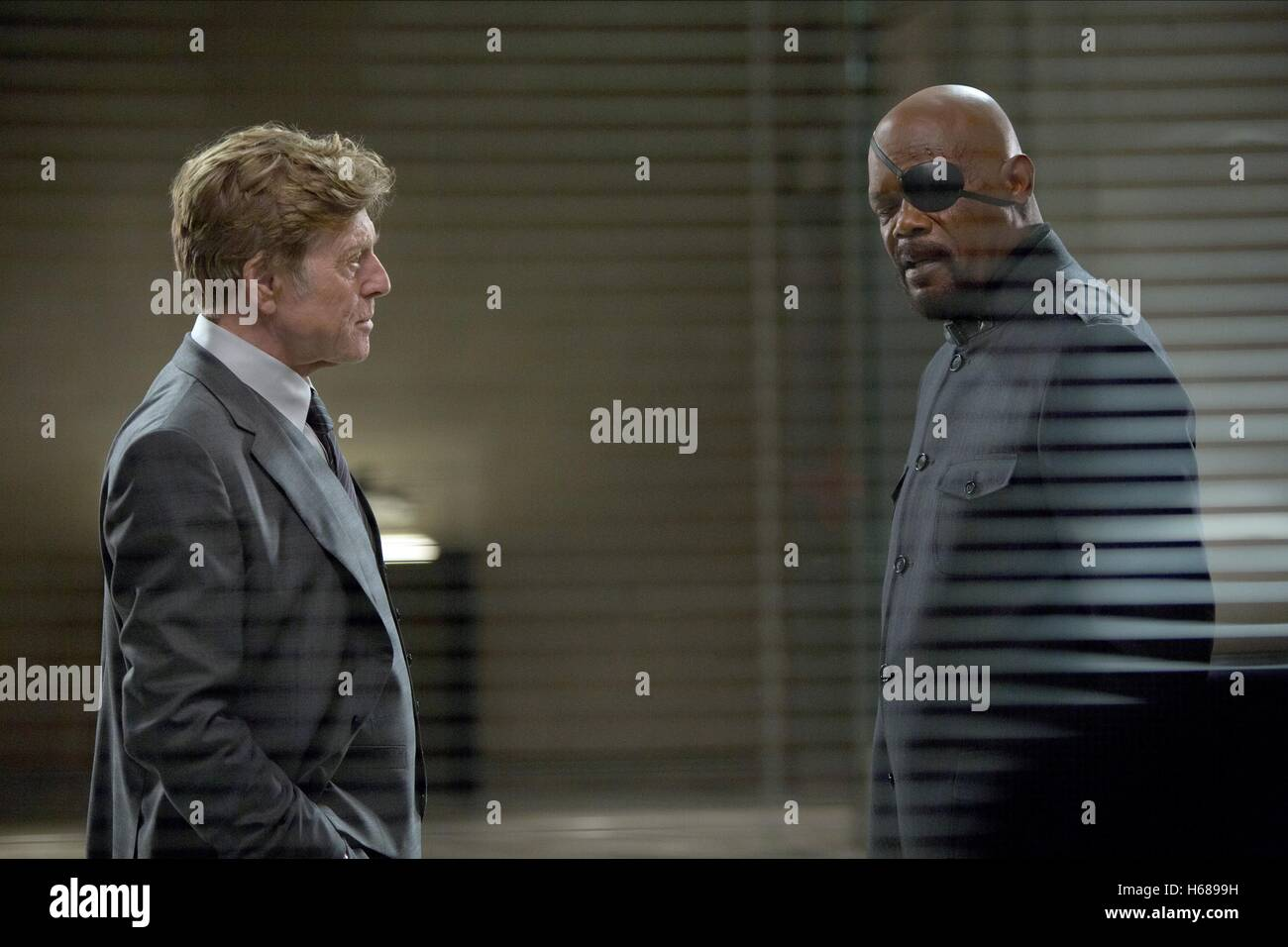 ROBERT REDFORD & SAMUEL L. JACKSON CAPTAIN AMERICA: THE WINTER SOLDIER (2014) - Stock Image