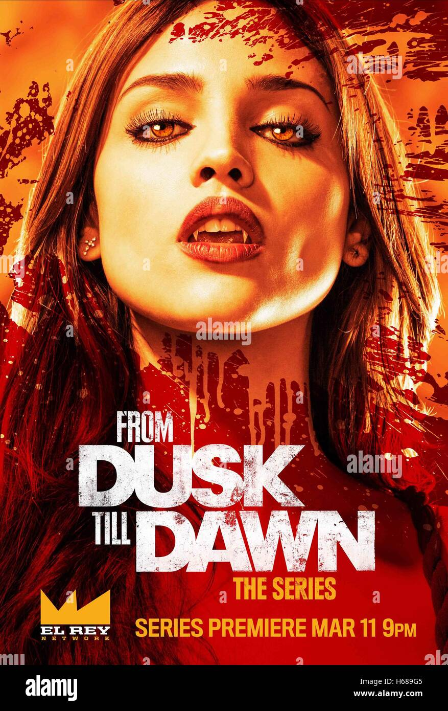 MOVIE POSTER FROM DUSK TILL DAWN; FROM DUSK TILL DAWN: THE SERIES (2014) - Stock Image