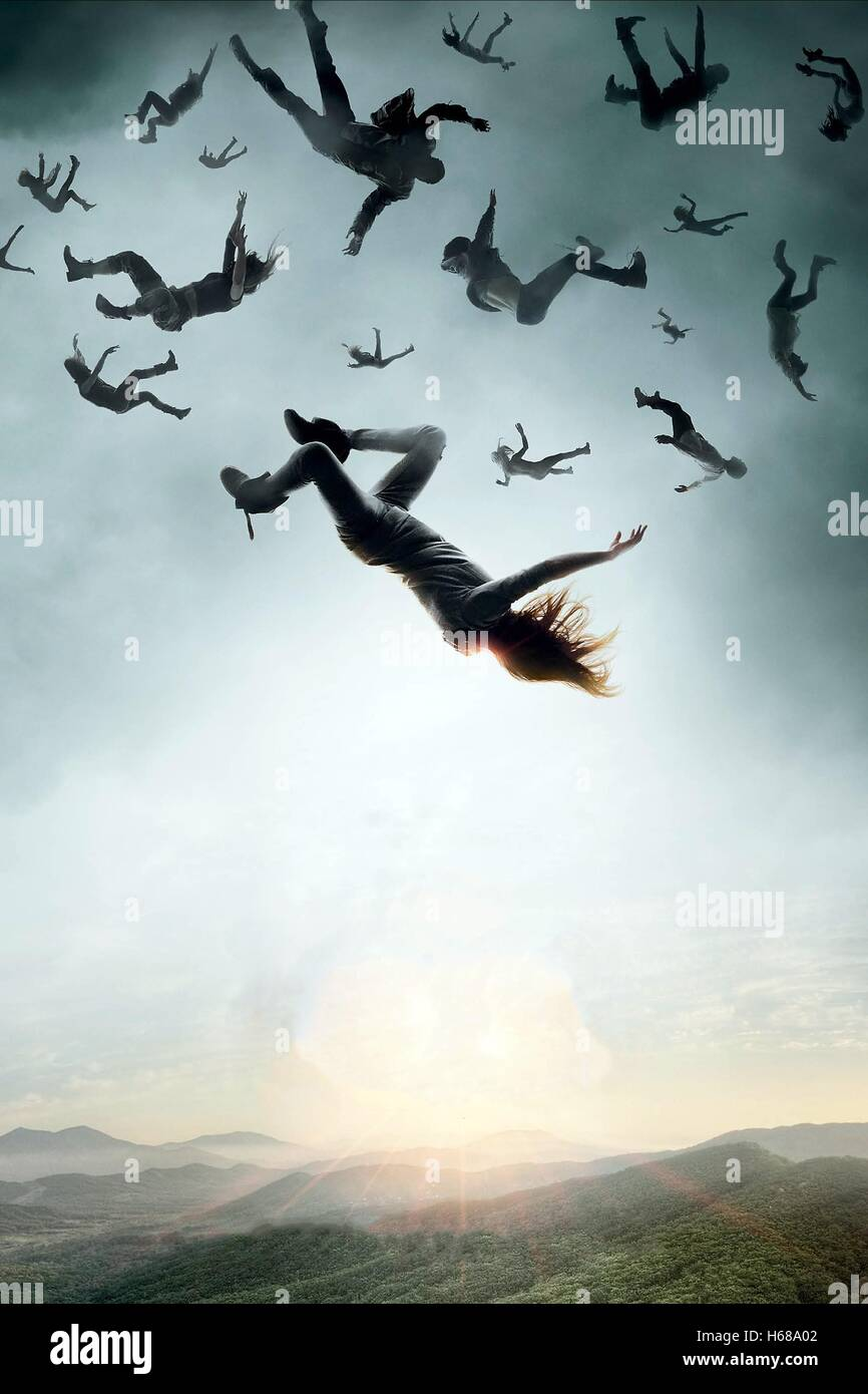BODIES FALLING FROM SKY THE HUNDRED; THE 100 (2014) - Stock Image