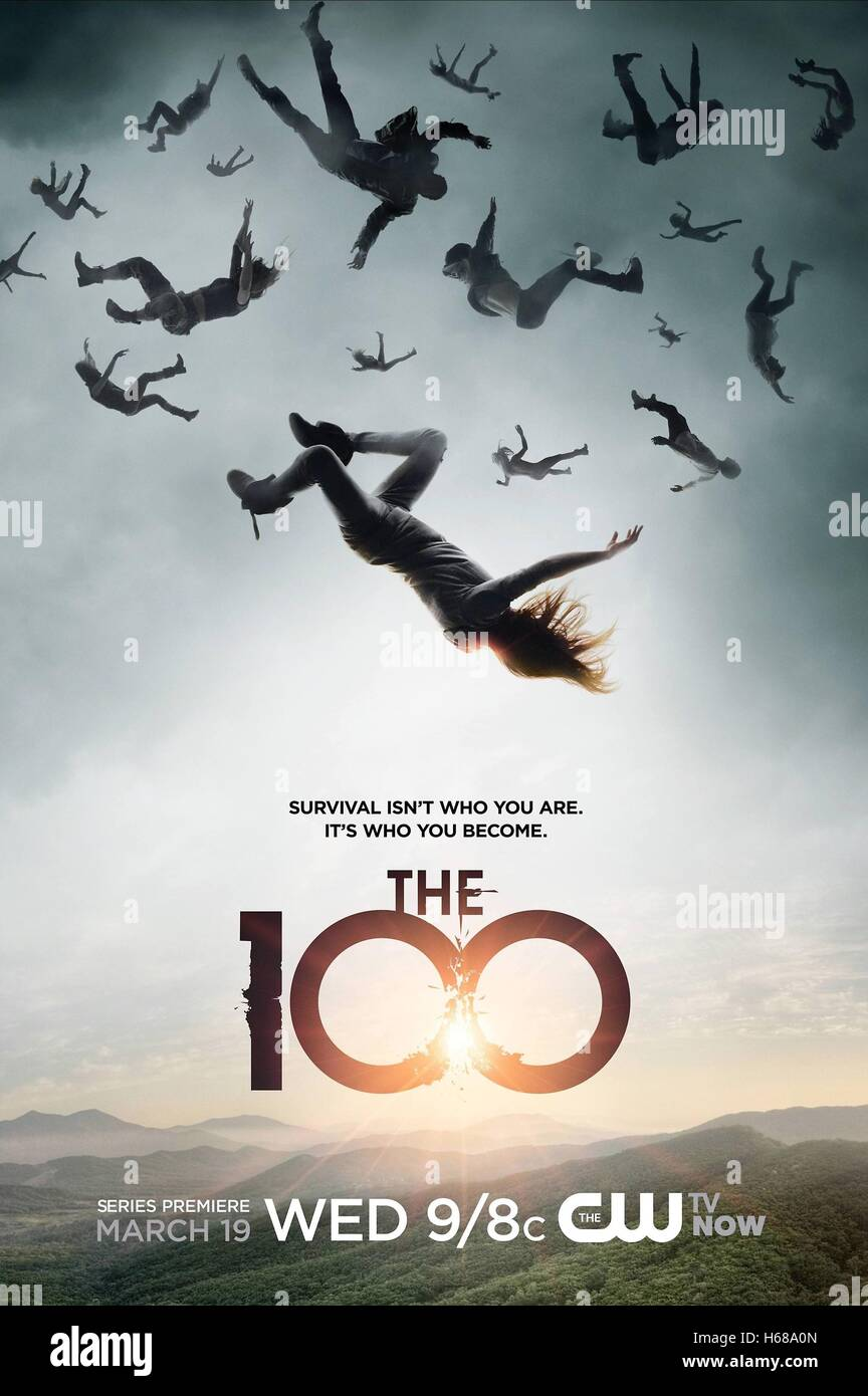 MOVIE POSTER THE HUNDRED; THE 100 (2014) - Stock Image
