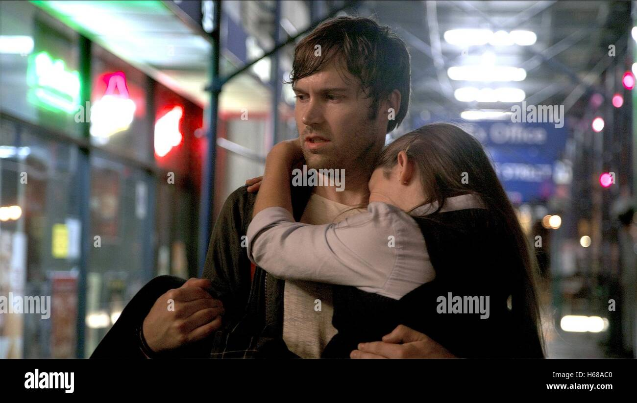 SHAWN CHRISTENSEN & FATIMA PTACEK BEFORE I DISAPPEAR (2014) - Stock Image