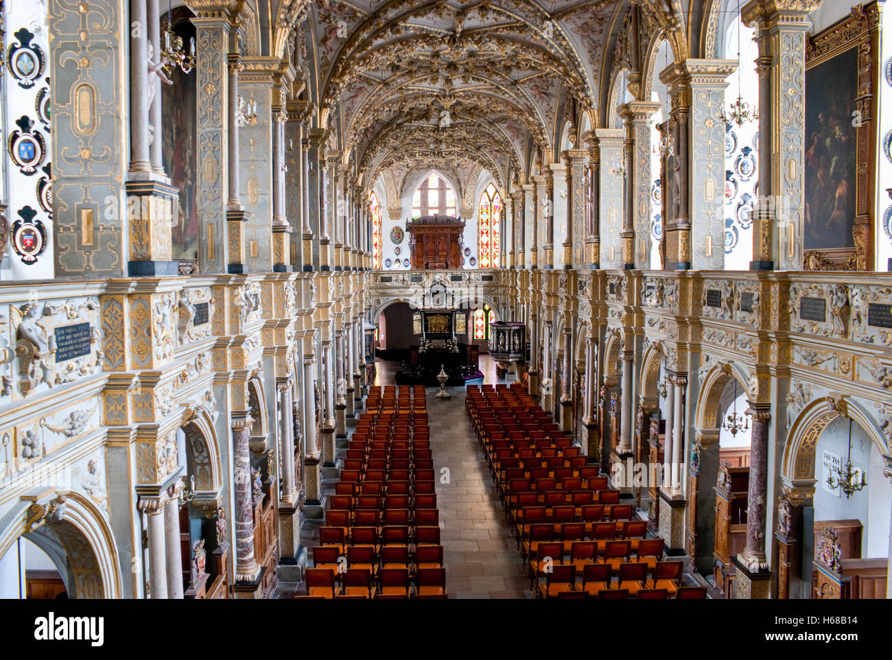 The Palace Church or Chapel of Orders serves as a local church today and is a part of the palace museum. - Stock Image