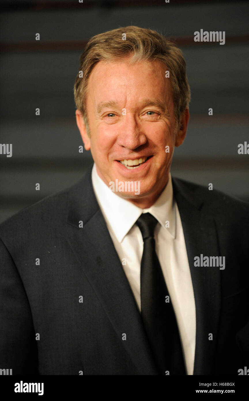 Tim Allen attends the 2015 Vanity Fair Oscar Party hosted by Graydon Carter at Wallis Annenberg Center for the Performing - Stock Image