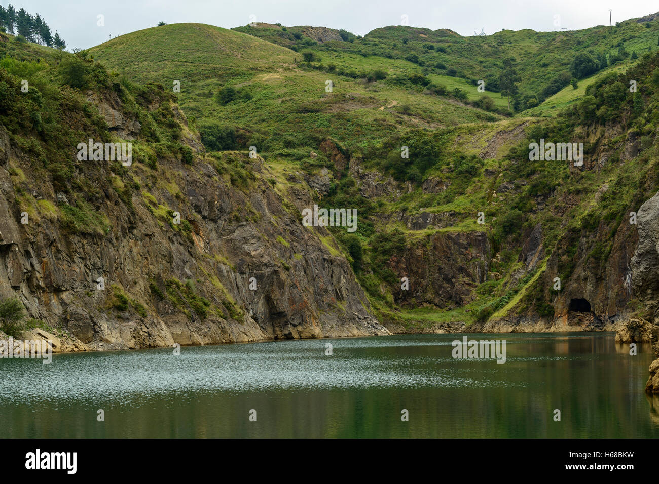 Park of La Arboleda - recreation area in Trapaga Valley near Bilbao, Vizcaya, Basque Country, Spain, Europe Stock Photo