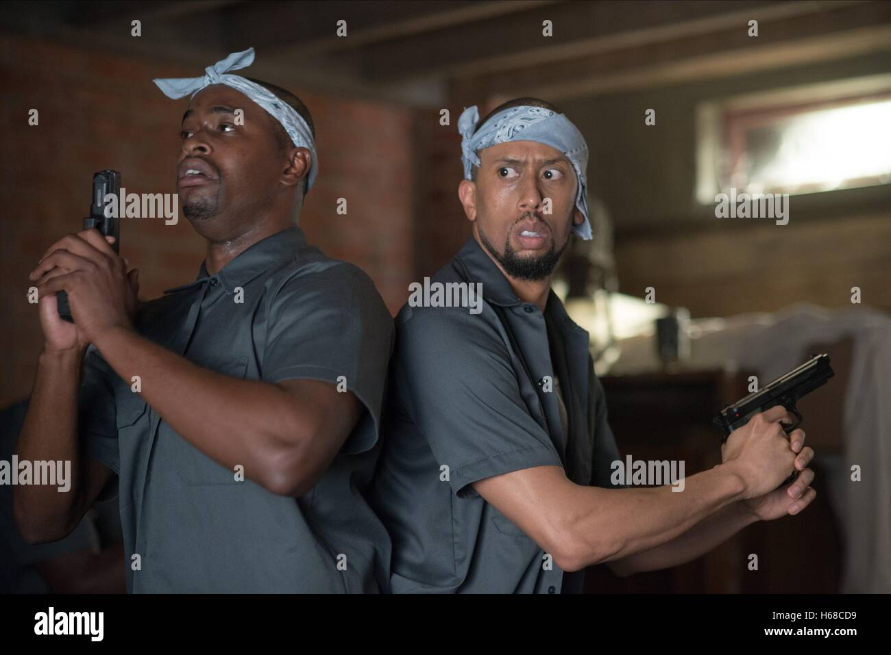 AFFION CROCKETT & DION LACK A HAUNTED HOUSE 2 (2014) - Stock Image